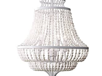 Feiss Maarid 4 Bulb White Semi Gloss Chandelier