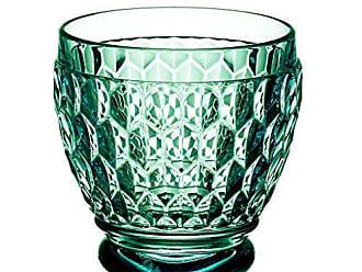 Villeroy & Boch Boston Green Crystal Shot Glass, Set of 4