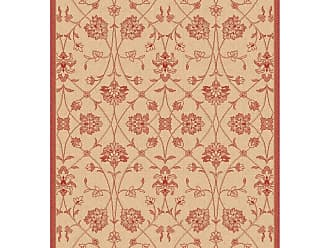 Dynamic Rugs Piazza Parisian Indoor/Outdoor Area Rug - Natural/Red - PZ71027443701