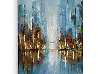 WEXFORD HOME Nan City Lights Wrapped Canvas Art Print, 16x20