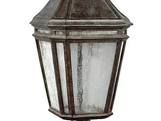 Feiss Londontowne 19.5 LED Outdoor Post Lantern in Weathered Chestnut