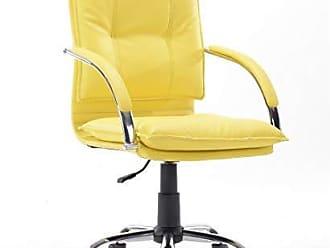 Pelegrin Cadeira Diretor em Couro Pu Amarela Pelegrin Pel-280