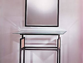 George Kovacs P5188-615B Console Table in Dorian Bronze finish with Ripple Glass