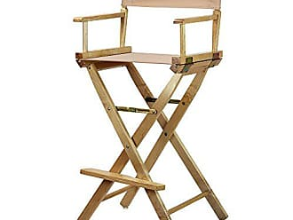 Yu Shan Casual Home 30 Directors Chair Natural Frame-with Tan Canvas, Bar Height
