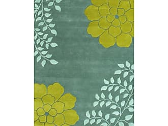 Noble House Gardenia GAR570 Indoor Area Rug Aqua / Green, Size: 8 x 11 ft. - GAR5701811