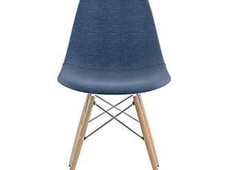NyeKoncept 331006EW1 Mid Century Dowel Side Chair, Dodger Blue