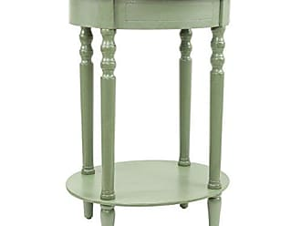 Decor Therapy Décor Therapy Simplify Oval Accent Table, Antique Green