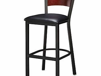 Regal Honors Full Back 30 in. Metal Bar Stool with Upholstered Seat Mahogany - 1316U-FB-30-ANODIZED NICKEL- MAHOGANY