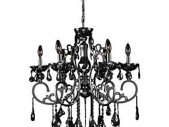 Worldwide Lighting W8310926 Kronos 6 Light 26 Wide Crystal Chandelier