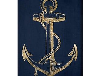Hatcher & Ethan Gold Anchor Canvas Wall Art - HE12769_40X60_CANV_XXHD_HE