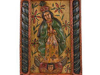 Novica Wood relief panel, Mary of the Immaculate Conception