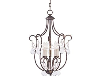 Livex Lighting 6436 Chesterfield 5 Light Pendant Antique Gold Leaf