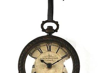 Zentique Zentique Vintage Round Clock with Ribbon