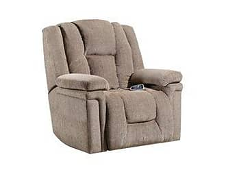 United Furniture Lane Home Furnishings Heat and Massage Power Lift Recliner (Tan)