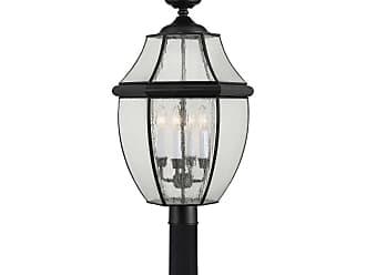 Quoizel Newbury 29.5 4-Light Post Top Lantern in Mystic Black