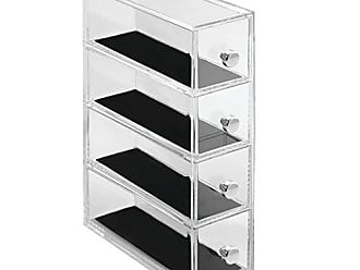 InterDesign InterDesign Clarity Vanity Jewelry Organizer, 4-Drawer Tower, Clear/Black