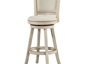 Boraam Melrose 29 in. Upholstered Swivel Barstool with Nailhead Trim - 76229