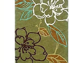 Linon Linon Trio Collection Space Dyed Green & Brown 8 x 10 Green