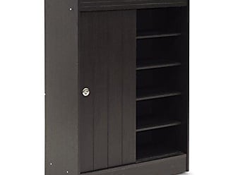 Wholesale Interiors Baxton Studio Shoe-Rack Cabinet, Espresso