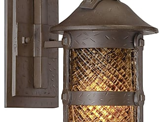 Minka Lavery The Great Outdoors 1 Light Wall Mount In Forged Iron Finish W/ Spanish Fire Piastra Glass
