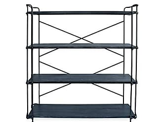 Christopher Knight Home 306660 Lynn 4-Tier Shelf Industrial Brushed Dark Gray and Pewter