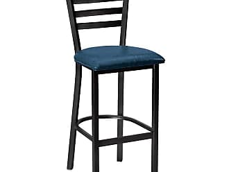 Regal Delano 26 in. Stationary Counter Stool with Vinyl Seat Black - 1516U-26-ANODIZED NICKEL-BLACK