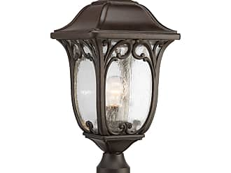 PROGRESS P6401-84 1-Lt. Post Lantern (9.5) in Espresso finish with clear seeded glass