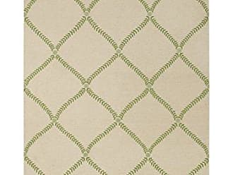 Capel Rugs Williamsburg Parable Rectangle Hand Knotted Area Rug, 5 x 8, Grass Green