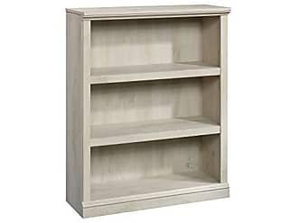 Sauder Sauder 423032 3 Shelf Bookcase, L: 35.28 x W: 13.23 x H: 43.78, Chalked Chestnut finish