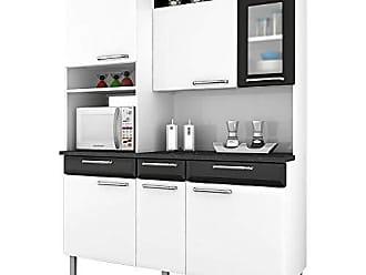 Itatiaia Cozinha Compacta Itatiaia I31vg3-155 Regina 6 Portas Branca/Preta