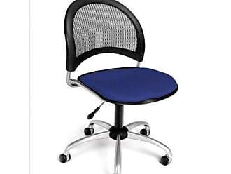 OFM Moon Series Armless Fabric Swivel Chair, Royal Blue