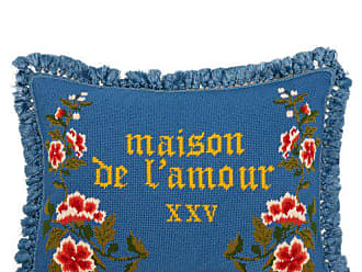 Gucci Maison De Lamour Embroidered Wool Cushion - Blue Multi