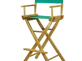 Yu Shan Casual Home 30 Directors Chair Natural Frame-with Teal Canvas, Bar Height