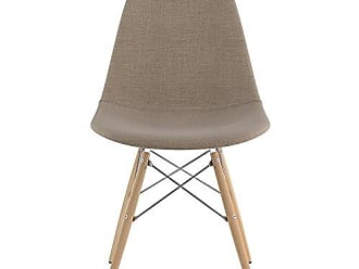 NyeKoncept 331001EW1 Mid Century Dowel Side Chair, Light Sand