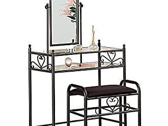 Coaster Metal 2-piece Vanity Set Black and Clear