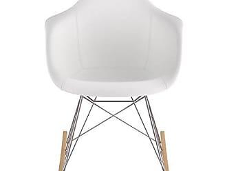 NyeKoncept 332010RO1 Mid Century Rocker Chair, Milano White
