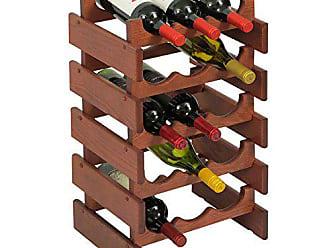 Wooden Mallet 15 Bottle Dakota Wine Rack, Mahogany