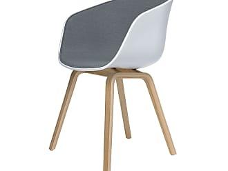 HAY About A Chair AAC22 Spiegelpolster Stuhl Lackiert Dunkelgrau