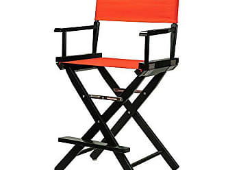 Yu Shan Casual Home 24 Directors Chair Black Frame-with Orange Canvas, Counter Height