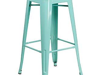 Flash Furniture ET-BT3503-30-MINT-GG Colorful Restaurant Barstools 30 Mint No Back Metal Stool, 1 Pack, Green