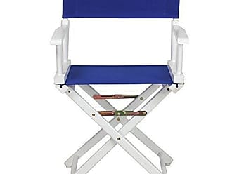 Yu Shan Casual Home 18 Directors Chair White Frame with Royal Blue Canvas