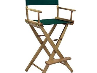 Yu Shan American Trails Extra-Wide Premium 30 Directors Chair Natural Frame with Hunter Green Canvas, Bar Height