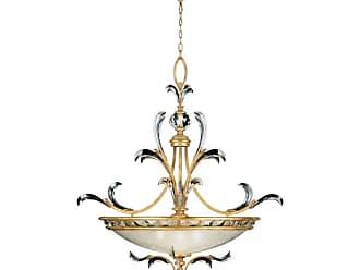 Fine Art Lamps 761740ST Beveled Arcs Gold 32 Diameter Three-Light