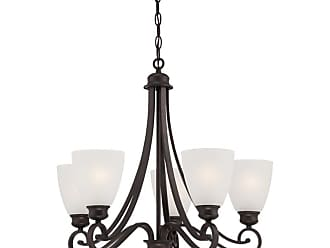 Thomas Lighting TK0017 Haven 5 Light 24 Wide Chandelier with Glass