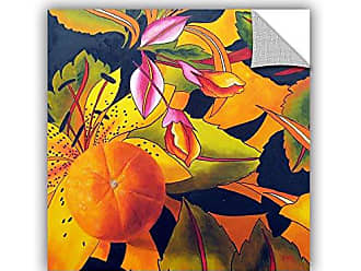 ArtWall Marina Petros Love That Orange Art Appeelz Removable Wall Art Graphic, 18 by 18