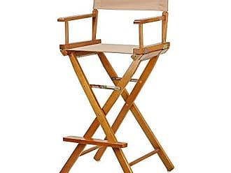 Yu Shan Casual Home 30 Directors Chair Honey Oak Frame-with Tan Canvas, Bar Height