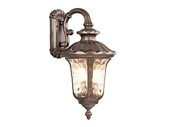 Livex Lighting 7663-LQ Oxford 3 Light Outdoor Wall Sconce Moroccan