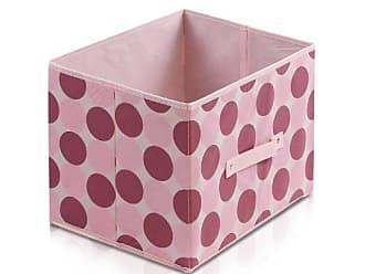 Furinno Laci 11144PI Non-Woven Fabric Soft Storage Organizer, Dot Design, Pink