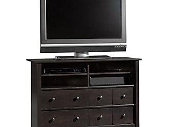 Sauder Sauder 409242 Edge Water Highboy TV Stand, For TVs up to 47, Estate Black finish