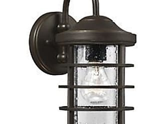 Sea Gull Lighting Sauganash Outdoor Wall Sconce with Clear Seeded Glass